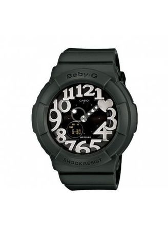 Black color Analog . Casio Baby-G Dual Display Women's Rubber Strap Watch Bga-134-3Bdr -