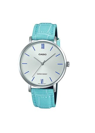 Blue color Analog . Casio Quartz Women's Leather Strap Watch Ltp-Vt01L-7B3 -