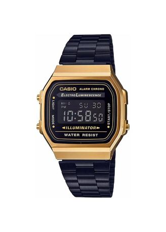 Black color Digital . Casio Digital Women's Stainless Steel Strap Watch A168Wegb-1B -