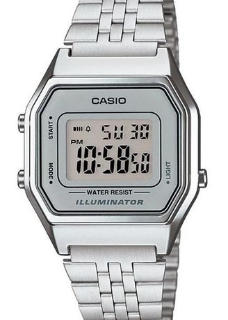 Silver color Digital . Casio Digital Women's Stainless Steel Strap Watch La680Wa-7Df -