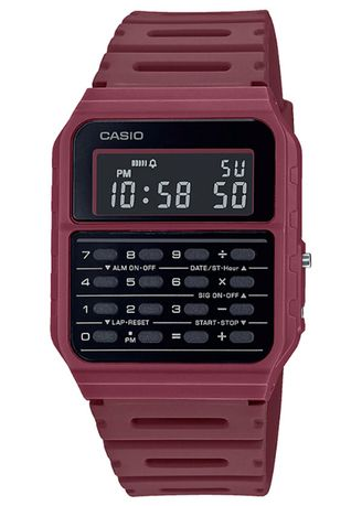 Red color Digital . Casio Digital Men's Resin Strap Watch Ca-53Wf-4B -