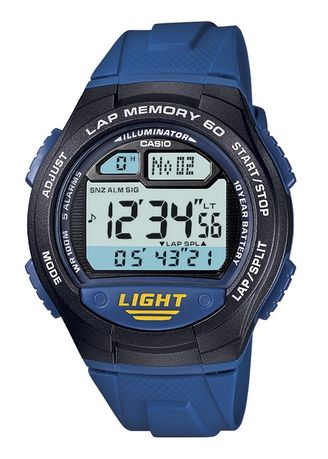 Black color Digital . Casio Digital Men's Rubber Strap Watch W-734-2Avdf -