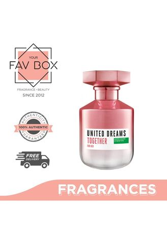 No Color color Fragrances . YOUR FAV BOX United Colors of  Benetton United Dreams Together For Her EDT 80ml -