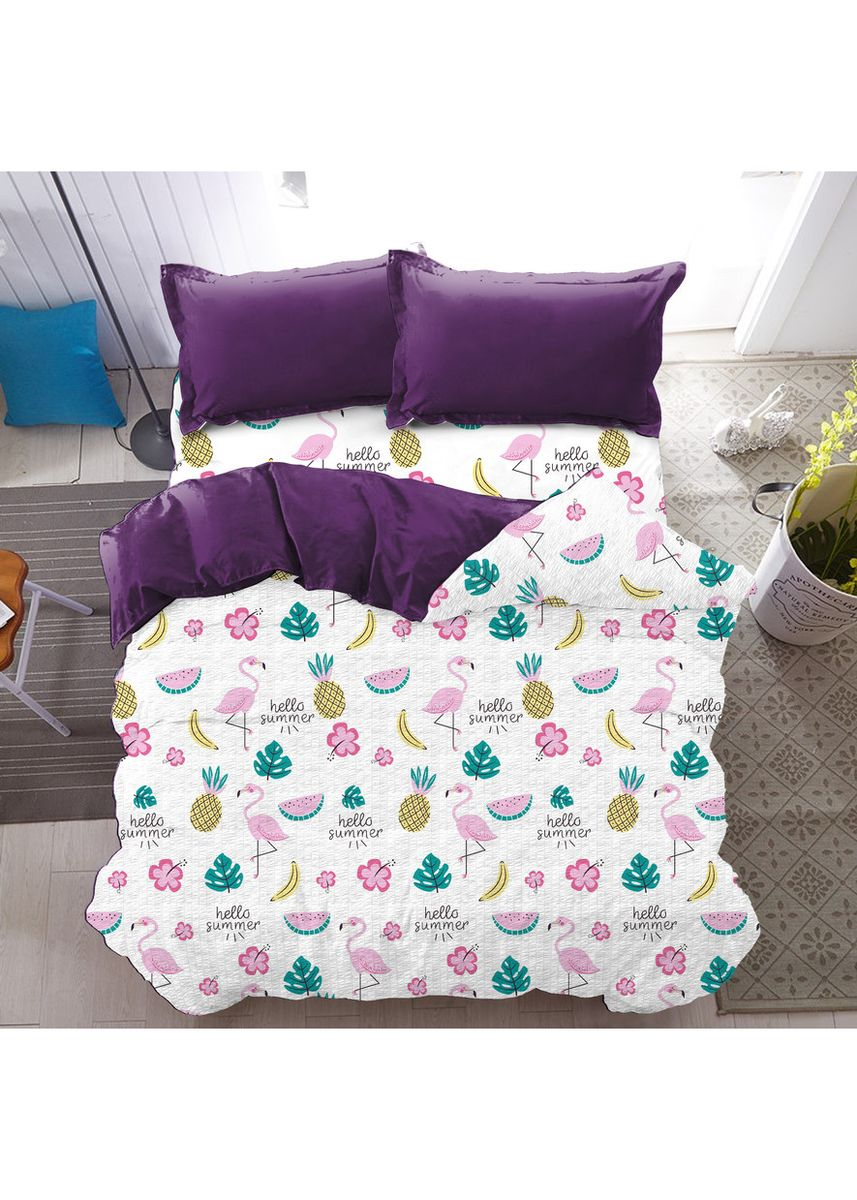 White color Bedroom . Bed Cover Only Summer Vibe Kintakun New Luxury Super Soft Microfiber 230 x 217 cm -