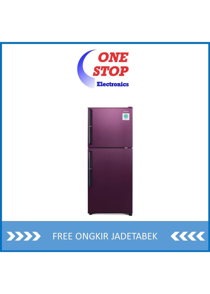 Merah color Kulkas . SHARP SJ-246GC-SR/SD Kulkas 2 Pintu Shine Series 205 L /187 L -