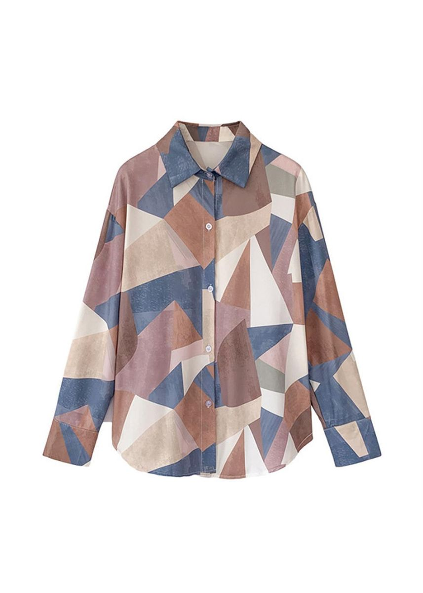 Blue color Plus Size Fashion . Reduction Of Age Summer New Shirt -
