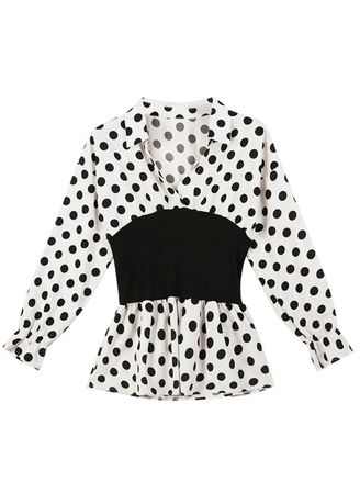 Multi color Tops and Tunics . Autumn New Korean Long-sleeve Wave Point Coat -