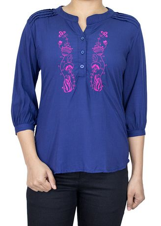 Navy color Tops and Tunics . SUNF 3/4 Sleeve Top -