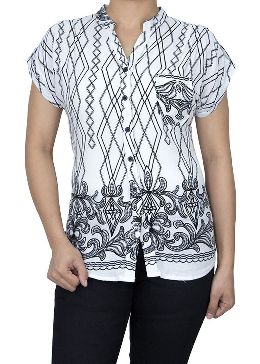 White color Tops and Tunics . SNP Short Sleeve Top -