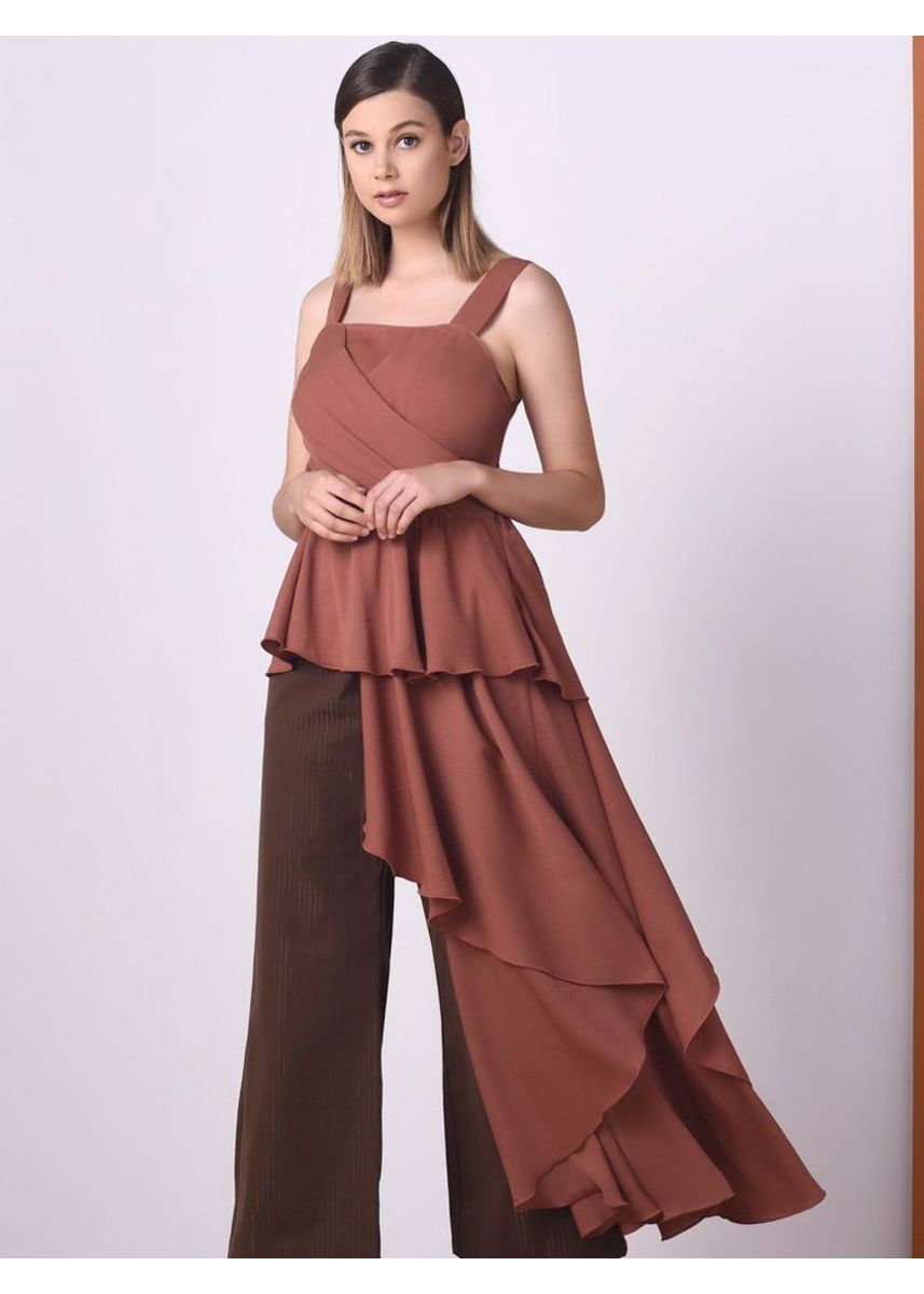 Brown color Tops and Tunics . RAF Quinoa Sleeveless Top -