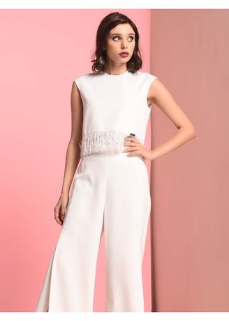White color Tops and Tunics . RAF Stone Sleeveless Top -