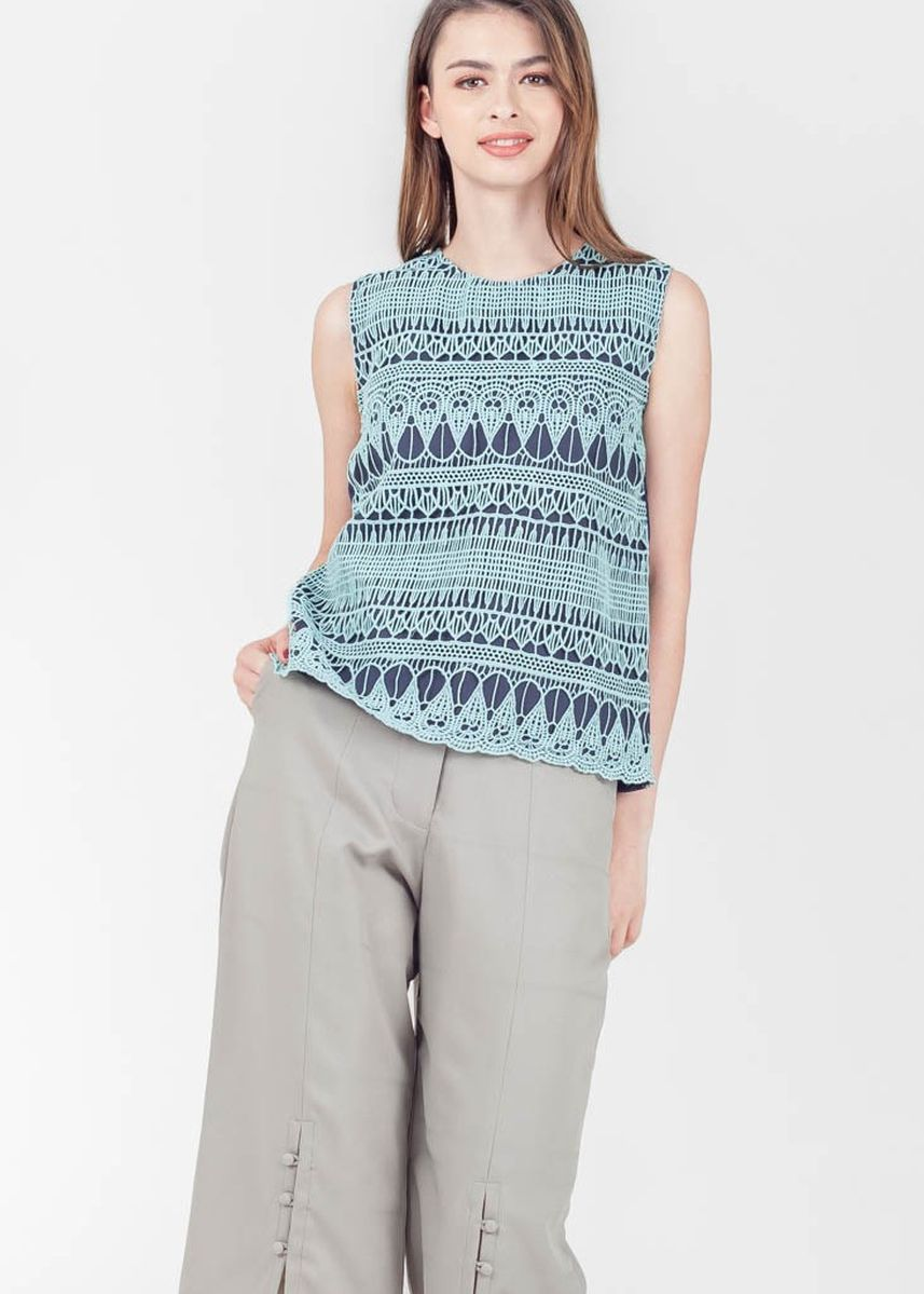 Blue color Tops and Tunics . Spring Harvest Seymour Sleeveless Top -