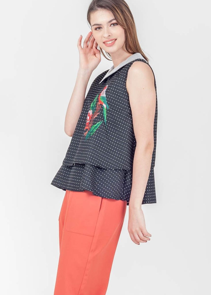 Black color Tops and Tunics . Spring Harvest Simms Sleeveless Top -