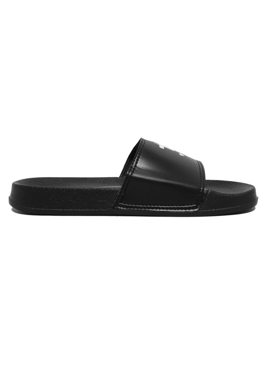 Black color Sandals and Slippers . Third Day AMA85 Sendal Slip On Pria Logo Icon Hitam -
