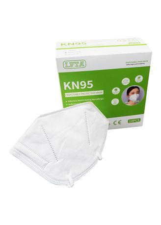 White color Masks . KN95 Personal Protective Face Mask 10pcs in a Box -
