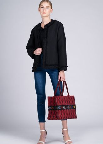 Red color Hand Bags . Cam Sur Advance Red/Marawi Black Mini Bag -