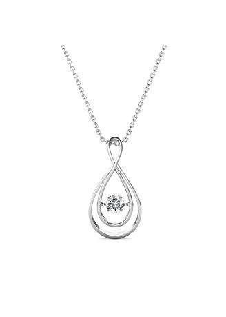 Silver color  . Abigail Pendant - Embellished with Crystals from Swarovski® -