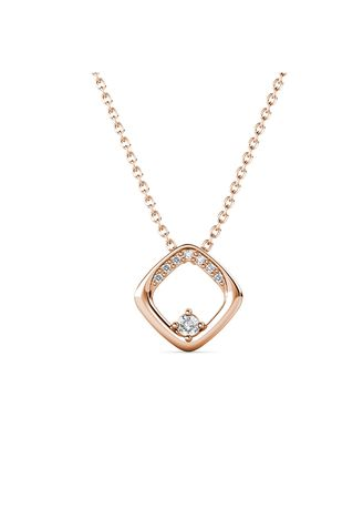Pink color  . Adelise Pendant‏ (Rose Gold)- Embellished with Crystals from Swarovski® -