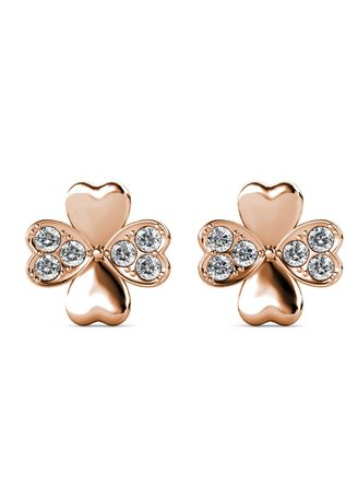 . Sweet Clover Earrings - Embellished with Crystal from Swarovski® -