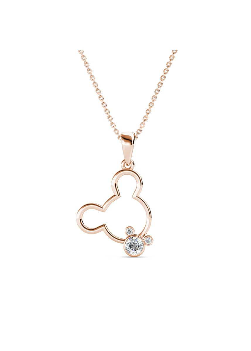 Pink color  . Mickey Bear Pendant (Rose Gold) - Embellished with Crystals from Swarovski® -