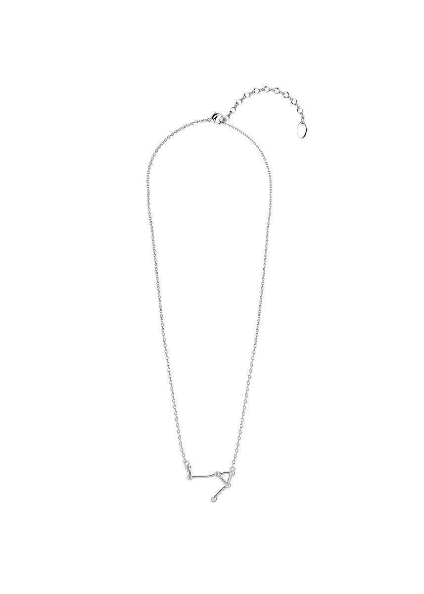 Silver color  . Libra Pendant (White Gold) - Embellished with Crystals from Swarovski® -