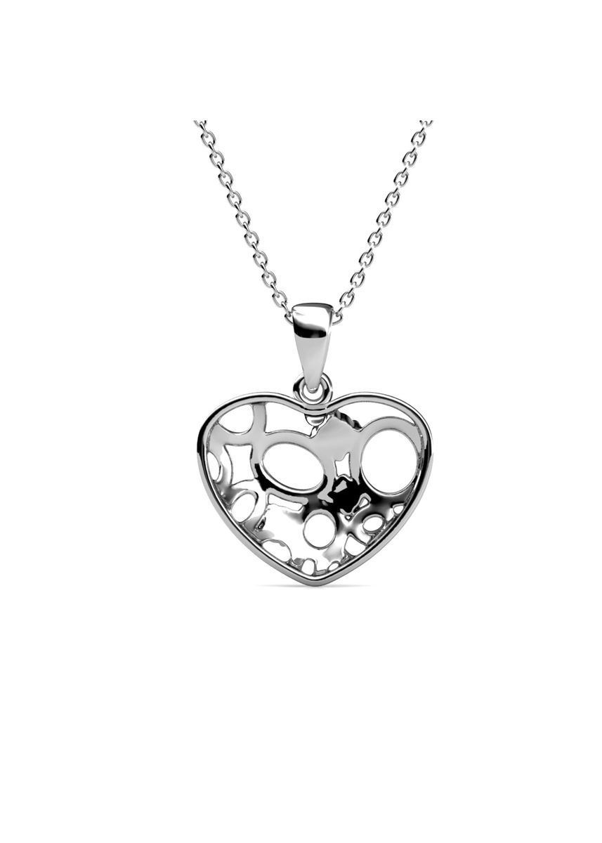 Silver color  . Arena Pendant (White Gold) - Embellished with Crystals from Swarovski® -