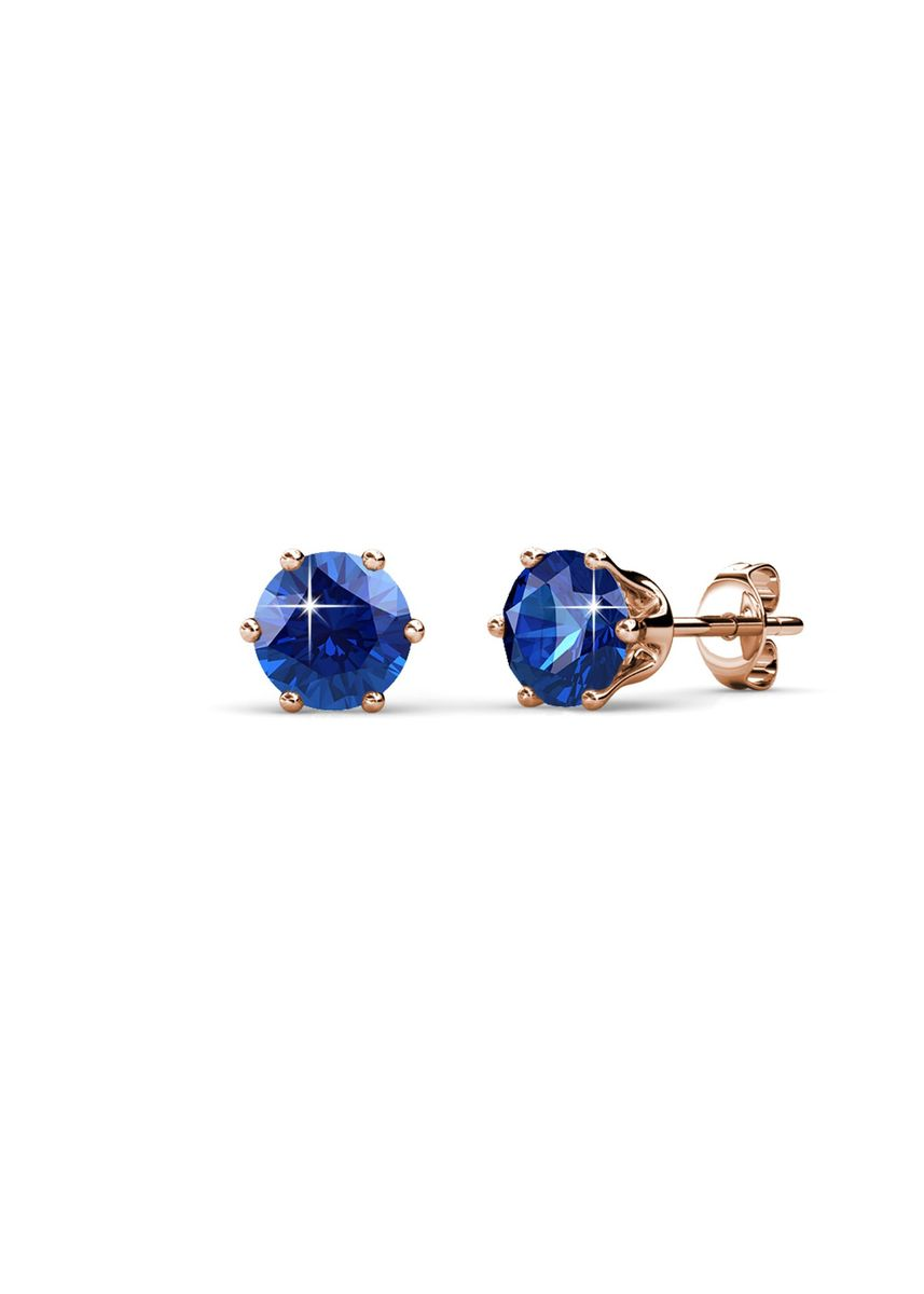 Pink color  . Birth Stone Earrings (September, Rose Gold) - Embellished with Crystals from Swarovski® -