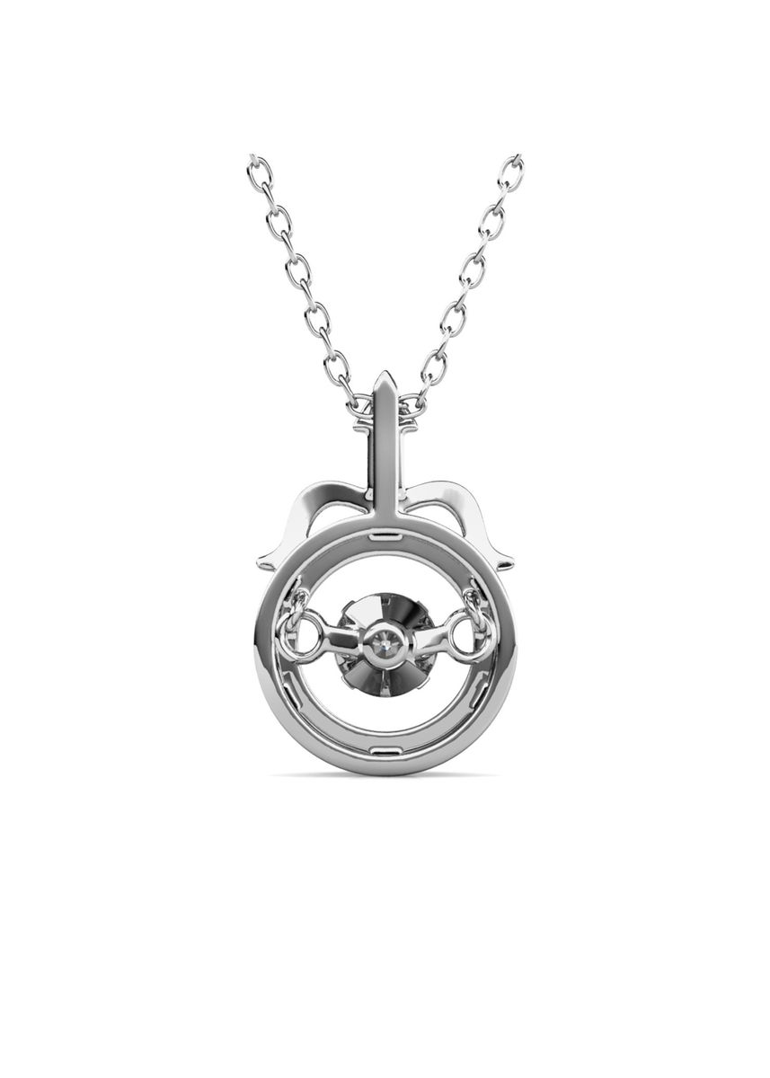 Silver color  . 12 Dancing Horoscope Pendant (Sagittarius) - Embellished with Crystals from Swarovski® -