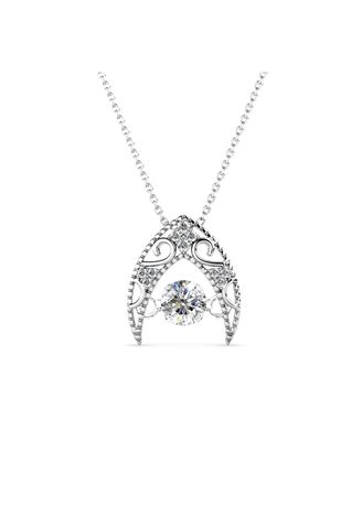 Silver color  . Queen's Diamond Pendant - Embellished with Crystals from Swarovski® -