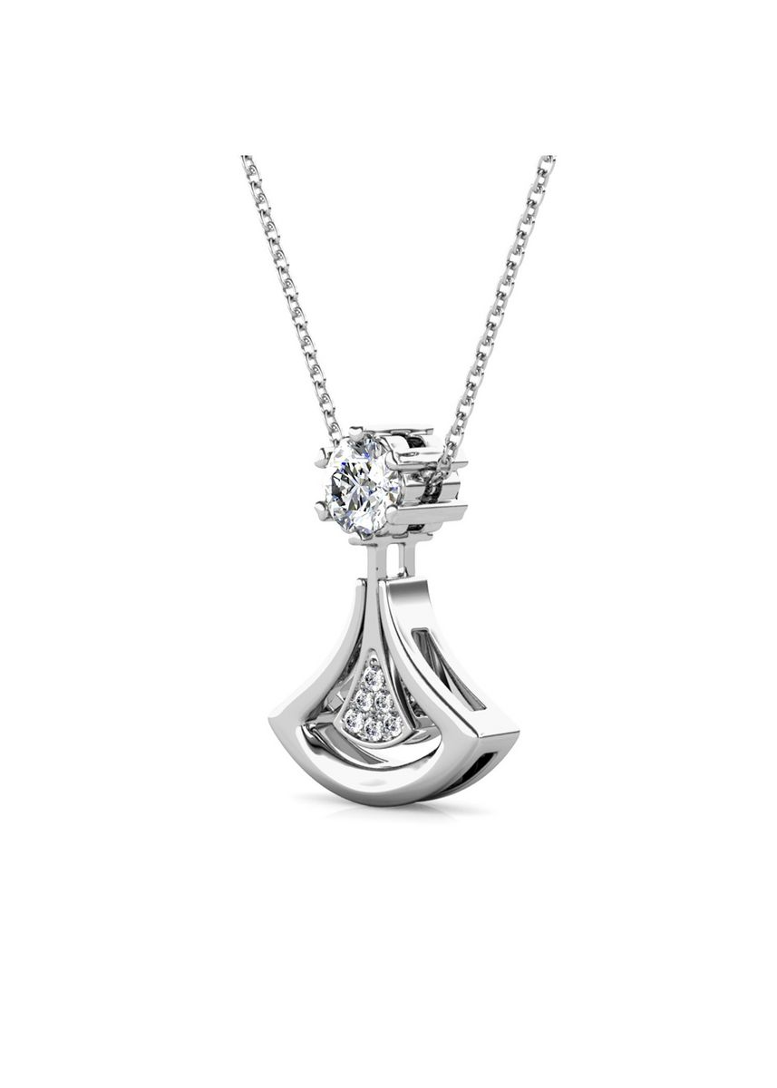 Silver color  . Dual Soul Crystal Pendant - Embellished with Crystals from Swarovski® -