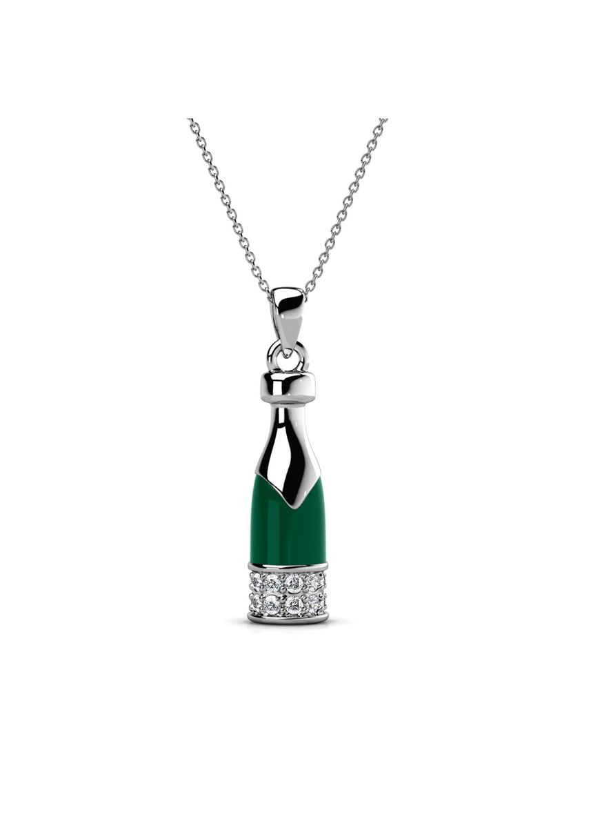 Silver color  . Cheering Pendant- Embellished with Crystals from Swarovski® -