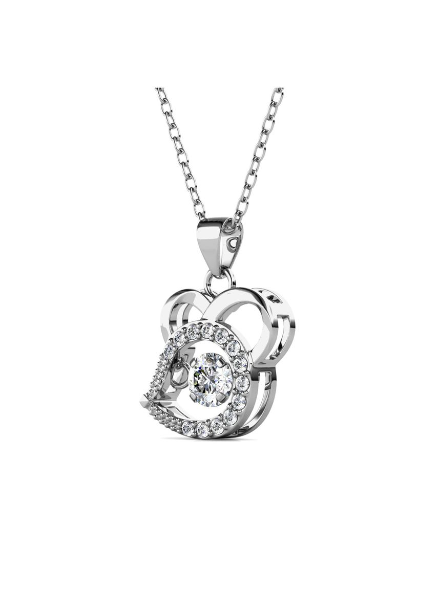Silver color  . 12 Dancing Zodiac Pendant Rat - Embellished with Crystals from Swarovski® -