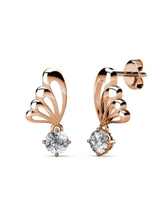 Pink color  . Dangling Lavinia Earrings- Embellished with Crystals from Swarovski® -