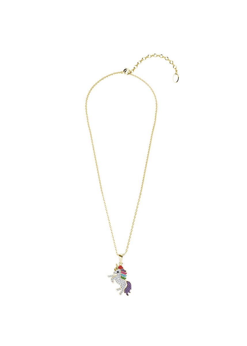 Yellow color  . Magical Unicorn Pendant - Embellished with Crystals from Swarovski® -
