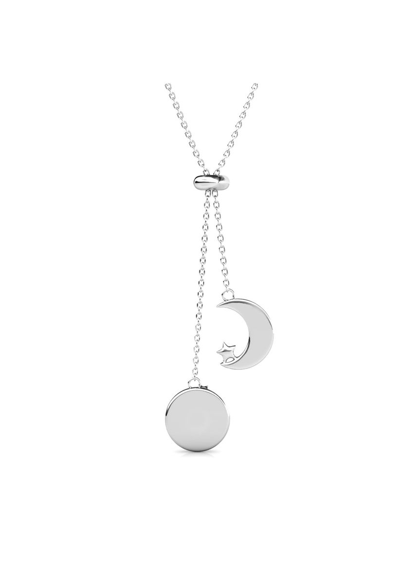 Silver color  . Meteor Pendant - Embellished with Crystals from Swarovski® -