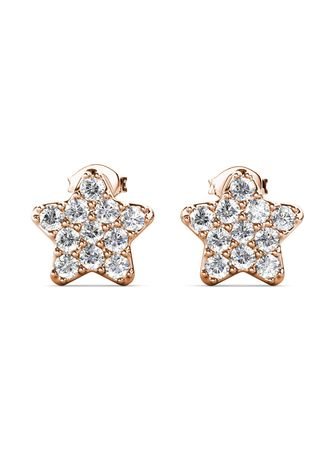 Pink color  . Star Blitz Earrings- Embellished with Crystals from Swarovski® -