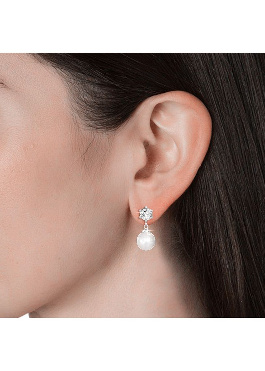 Silver color  . Pauline Earrings - Embellished with Crystals from Swarovski® -