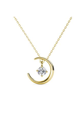 Yellow color  . Falling Star Pendant - Embellished with Crystals from Swarovski® -
