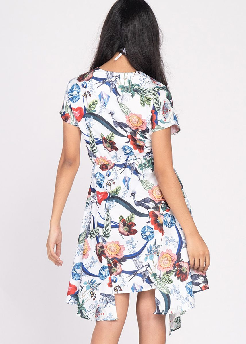 Multi color Tops and Tunics . Vivid Optimism Valeria Short Sleeves Dress W/ Mask -
