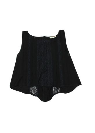 Black color Tops and Tunics . Free to Fly Sleeveless Top -