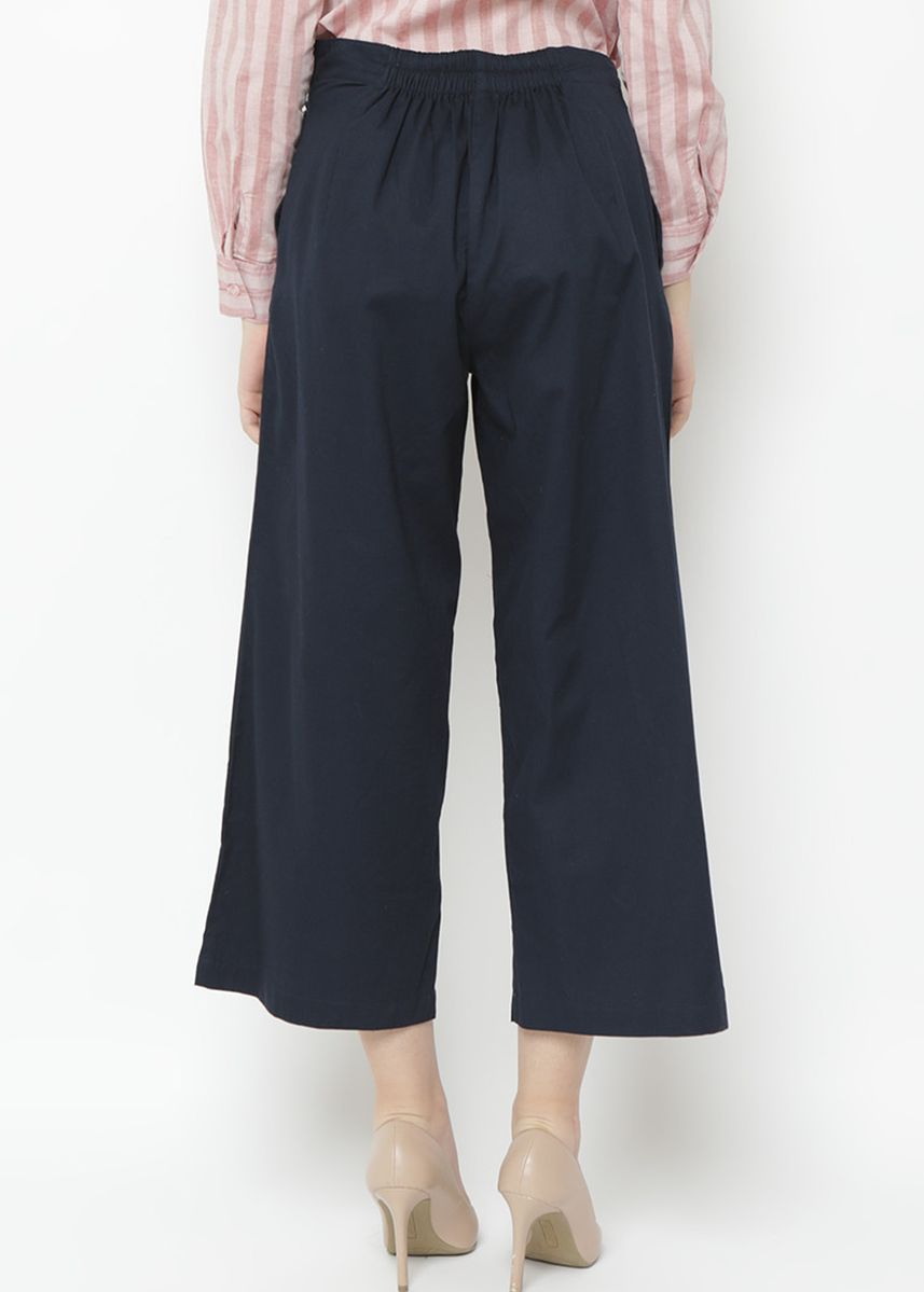 Navy color Trousers . Novel Mice - Navy Cotton 100% Culotte -