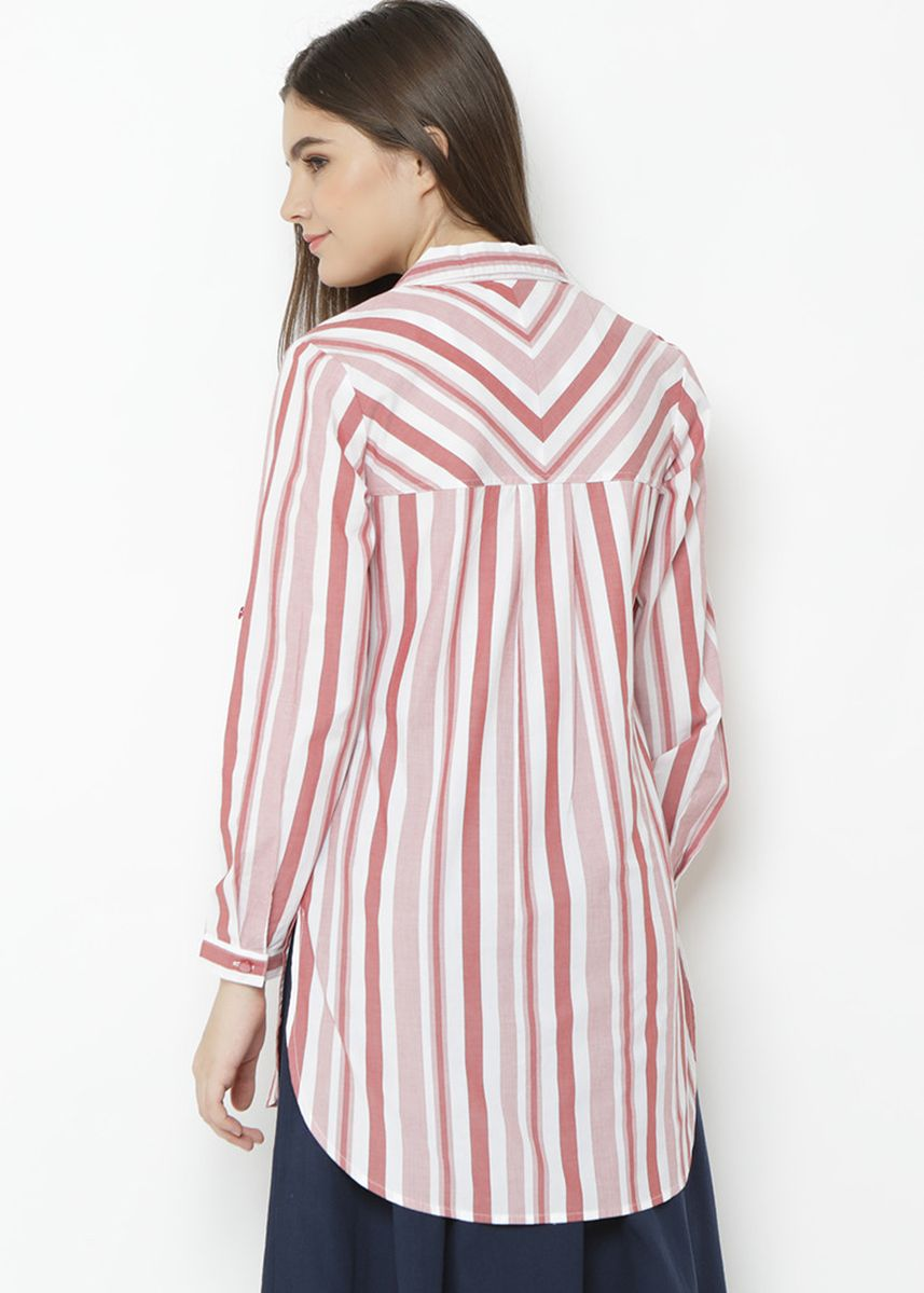 Pink color Tops and Tunics . Novel Mice - Super Pink Stripes Shirt -