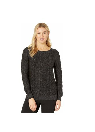 Hitam color Outerwear . Michael Kors - Cable Open Boat Neck Sweater -