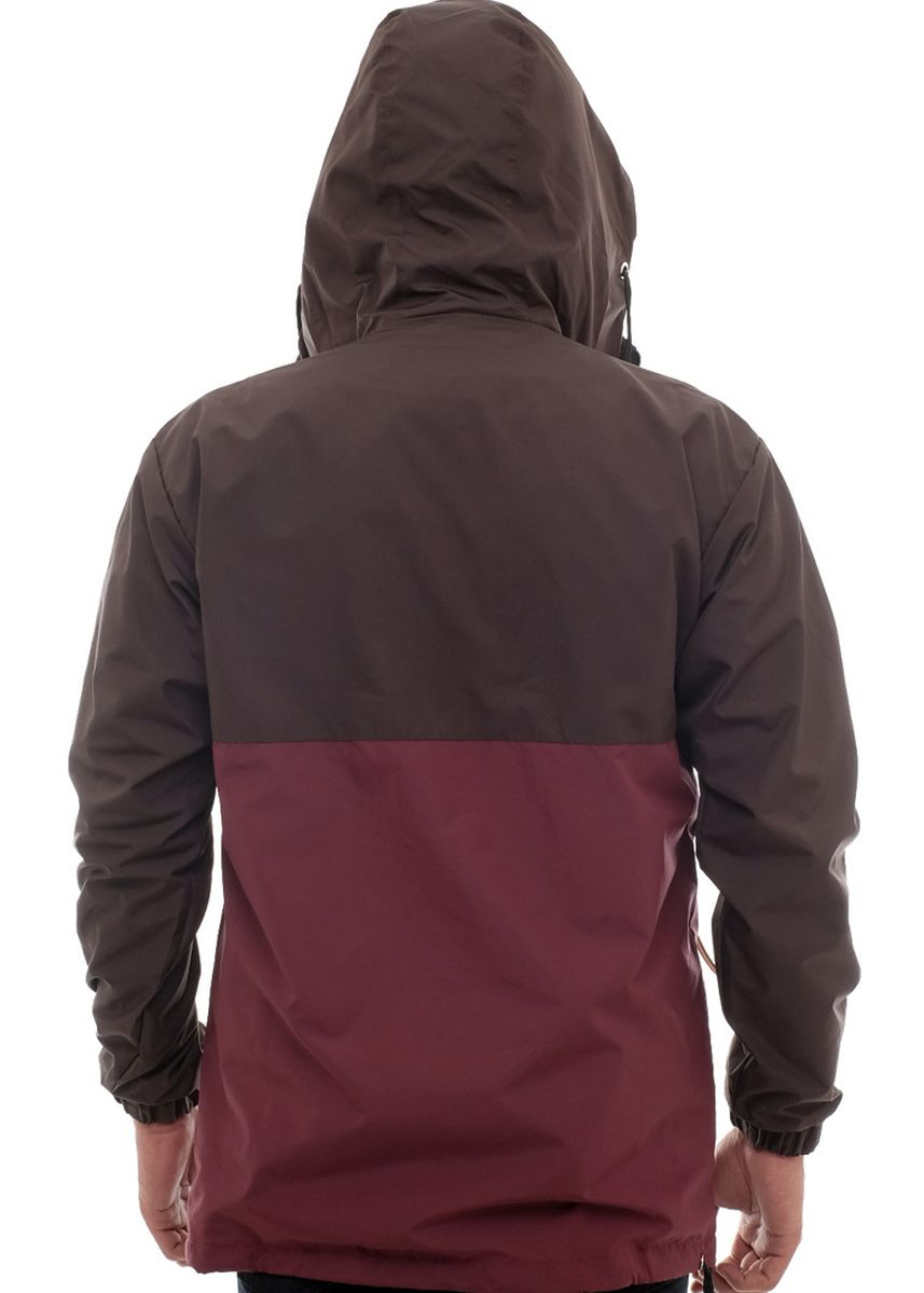 Maroon color Outerwear . X-Urband Official - Jaket Cagoule Pria (Maroon) A002 -