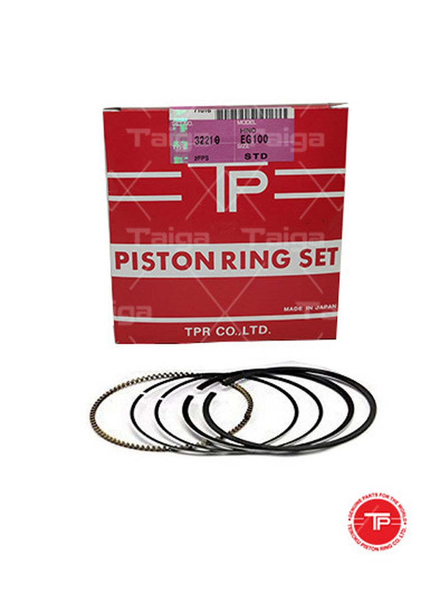 No Color color Piston Systems . TP Piston Ring 32218-STANDARD set of  6 for  Hino Truck, ED100 -