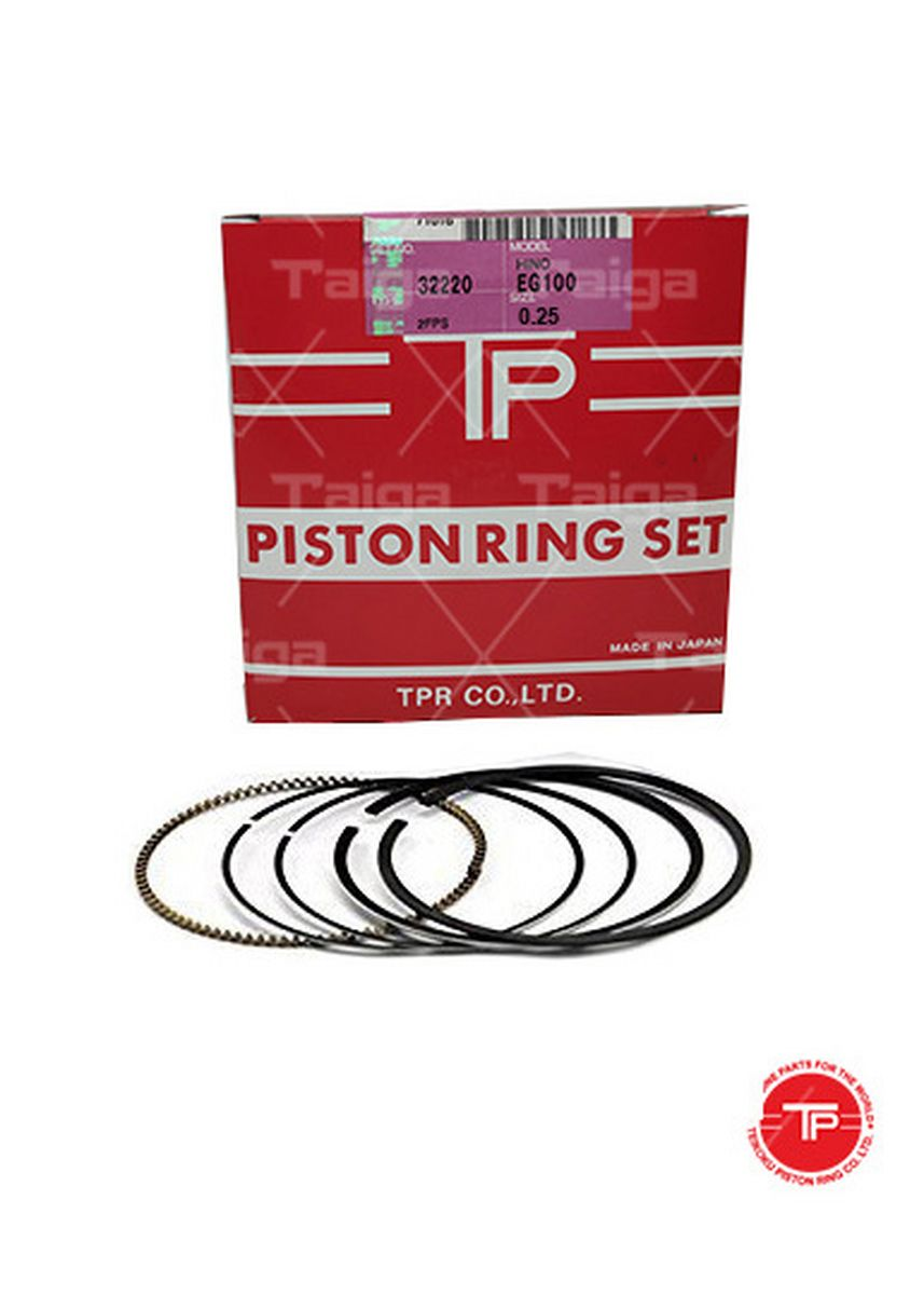 No Color color Piston Systems . TP Piston Ring 32220-0.25 set of  6 for  Hino Truck, Bus, EG100, EF500 -