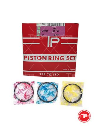No Color color Piston Systems . TP Piston Ring 32227-STANDARD set of  6 for  Hino Truck, EF700, EF750 -