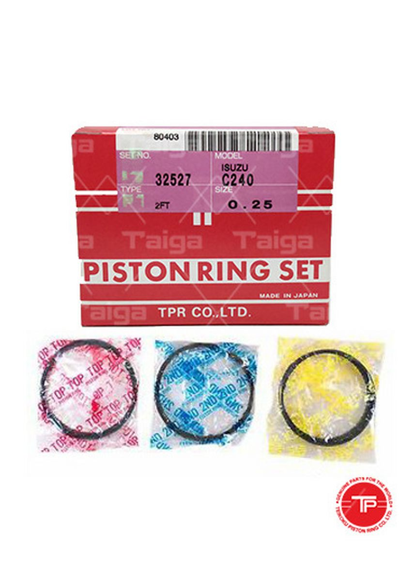 No Color color Piston Systems . TP Piston Ring 32527-0.25 4 Groove   set of 6 for  Isuzu Elf, C240 -