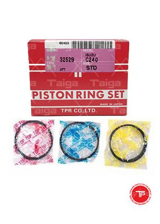 No Color color Piston Systems . TP Piston Ring 32529-STANDARD set of  4 for  Isuzu Elf, Truck, KS, 4BA1, C330 -
