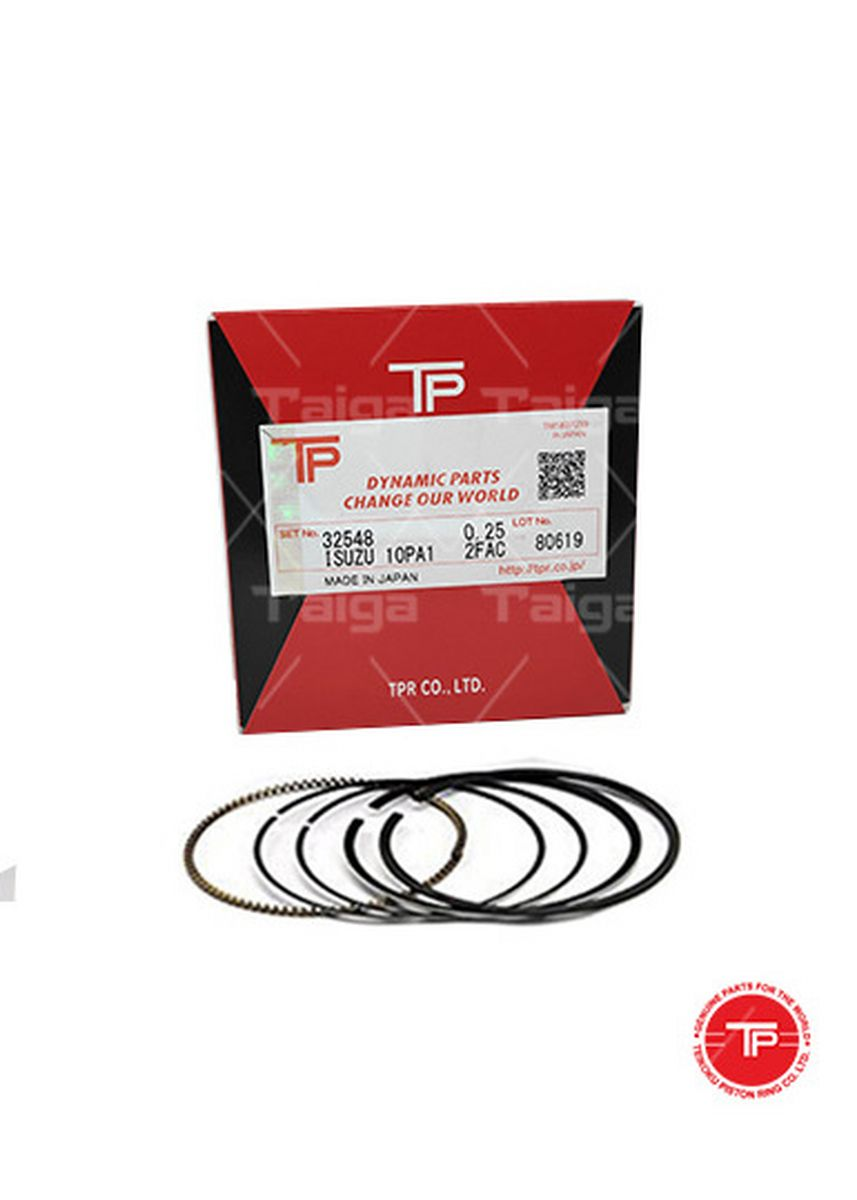 No Color color Piston Systems . TP Piston Ring 32548 cylinder-0.25 set of  8 for  Isuzu Truck,  Bus, 8PA1 -